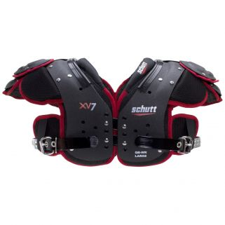 Front view of the Schutt XV7 QB/WR Shoulder Pads