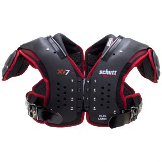 Front View of the Schutt XV7 OL/DL Football Shoulder Pads